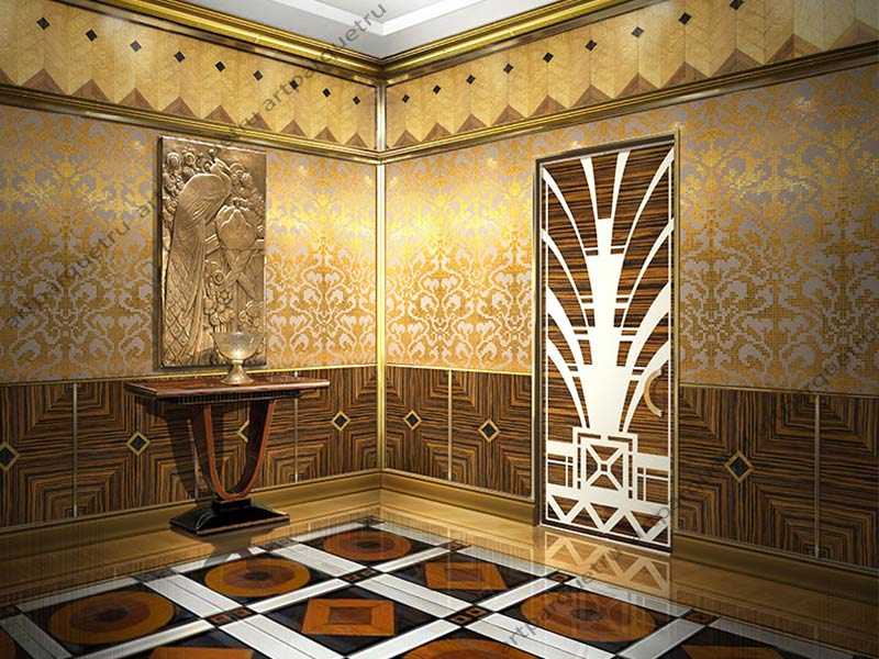 Old Fashioned Art Deco Wall Decor Vignette - Wall Art Collections ...